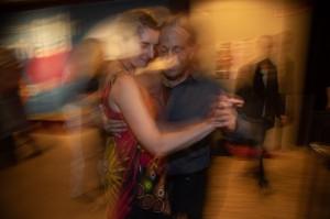 Mit Janine Holzer auf meiner Milonga im Kino Breitwand Gauting
