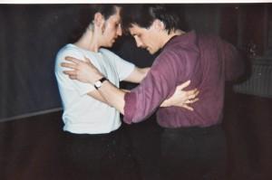 Tango-Unterricht gegen Ende der 1980er Jahre im Estudio Sudamerica bei meinem wichtigsten Lehrer Juan D. Lange
