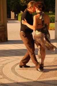 Beim Tango im Münchner Hofgarten 2013