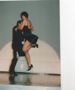 Tango Show-Auftritt von Ralf Sartori mit seiner damaligen Bühnenpartnerin Sonya A., im Künstlerhaus Bethanien in Berlin