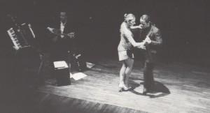 Ralf Sartori und Mariejo Reyes bei einer Solo-Tango-Show in der Black-Box im Gasteig, München 2000