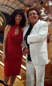 Valeria und Albano während einer Dreh-Pause in den Bavaria-Studios. Beide stammen aus Apulien.