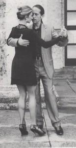Tango-Lernen mit Ralf Sartori im Kulturbahnhof Rimsting, hier zu sehen mit Mariejo Reyes