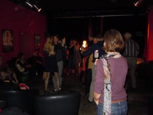Milonga auf Schloss Seefeld, im Rahmen der Tangofilmnächte, in der Kino-Lounge