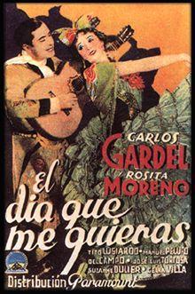 Carlos Gardel als Julio Argüelles und Rosita Moreno als Marga
