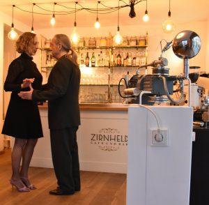 Tango im Café Zirnheld mit Andrea Nisch, Timur Dizdar und Martin Honsalek bei unserer gemeinsamen Kunst-Aktion